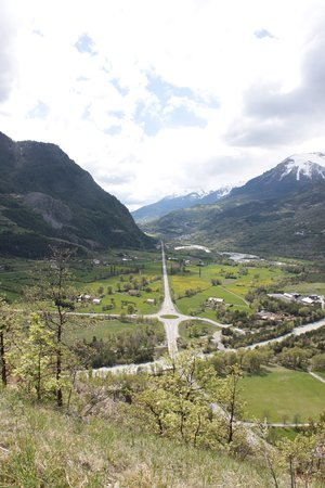 Mont-Dauphin, ฝรั่งเศส: vue sur la vallée de la Durance
