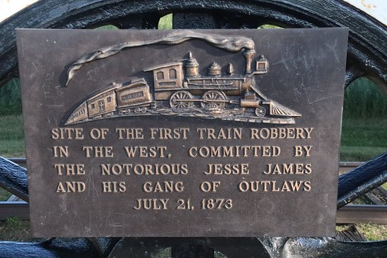 Adair, IA: Jesse's first train robbery