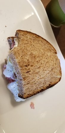 Oak Lawn, IL: This is advertised as toasted. Not toasted barely warmed. Waitress very dismissive.