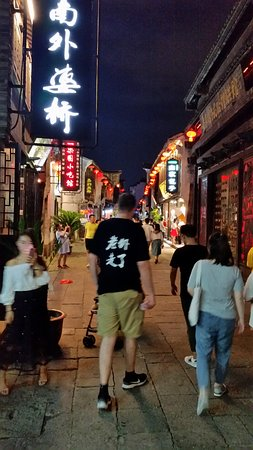 Walking one of the streets.