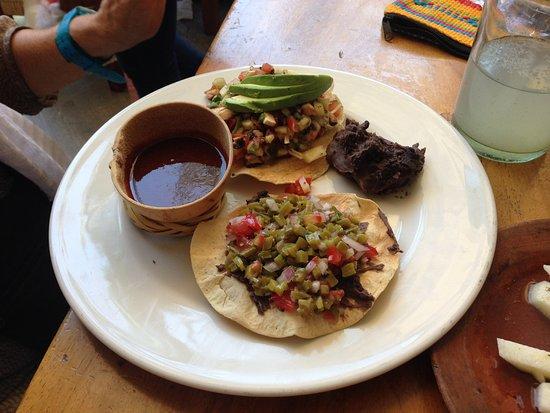 La Biznaga: Nopales and mushroom tostadas