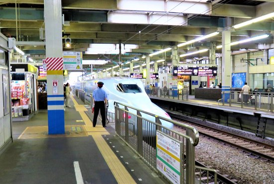 Sanyo Shinkansen: Синкансен на станции Хиросима.