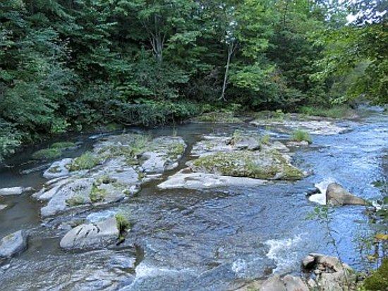 Bibai, Japan: 裏手に川が流れていました