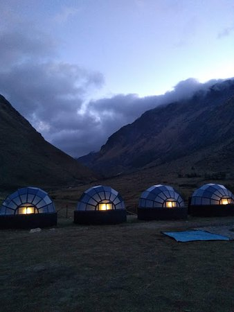 Salkantay Trekking: Sleeping at the Sky Camp with Salkantay in the background was incredible.