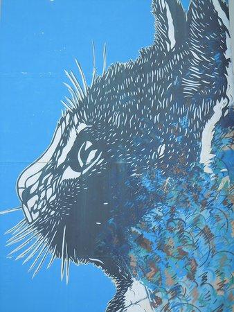 Fresque Le Chat Bleu