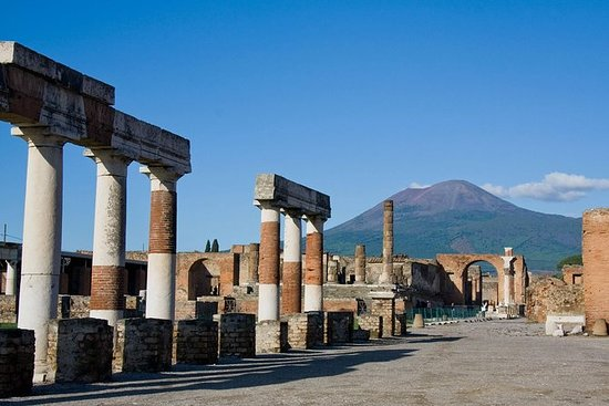 Pompeii and Mt Vesuvius from Sorrento