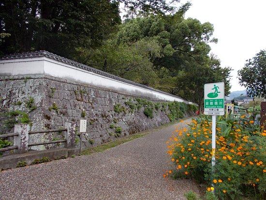 Hita, Japón: 公園の石垣