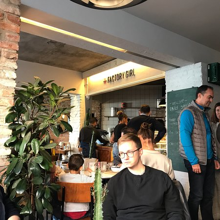 Factory Girl: Cool place, great coffee and breakfast.