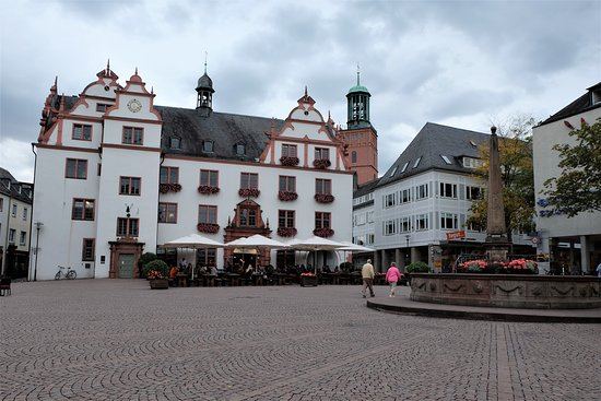 Darmstadt, Germany: Old townhall at the Marktplatz