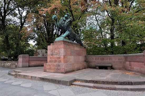 Darmstadt, Tyskland: Leibgarde-Infanterie-Regiment-Denkmal