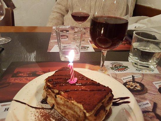 Tremendous The Tiramisu Birthday Cake Gorgeous Picture Of Ristorante Funny Birthday Cards Online Necthendildamsfinfo