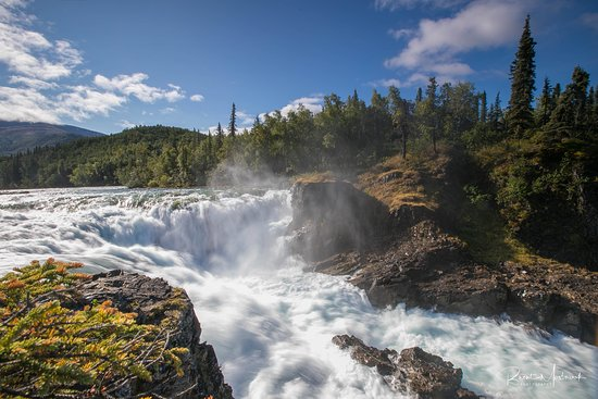 Port Alsworth, AK: hike to the falls