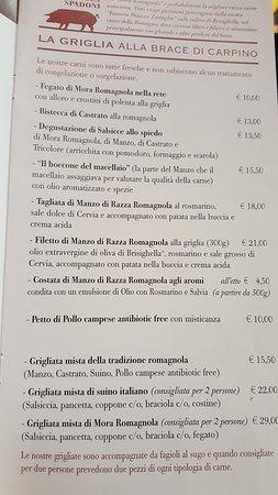 Menu Vario Picture Of Casa Spadoni Faenza Tripadvisor