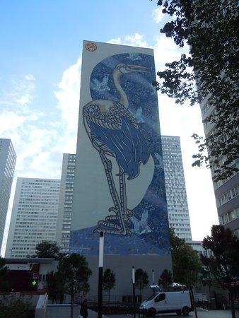 Fresque Heron Bleuté