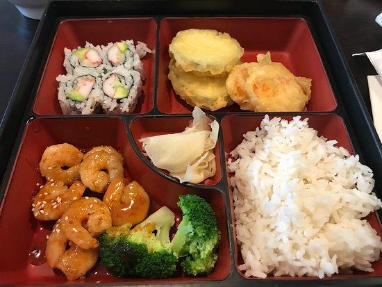 Chapin, SC: shrimp Bento Box