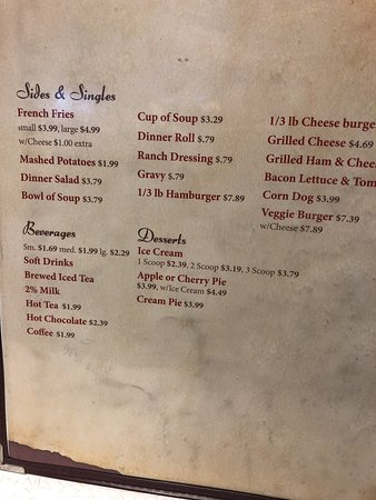 Duchesne, Γιούτα: Menu listings