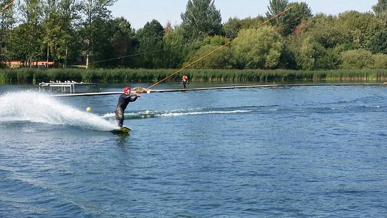 Wakeboarding at Willen Lake