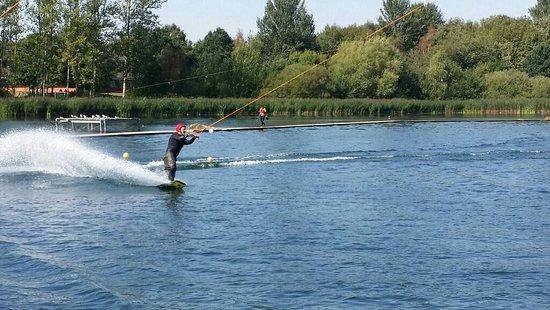 Wakeboarding at Willen Lake