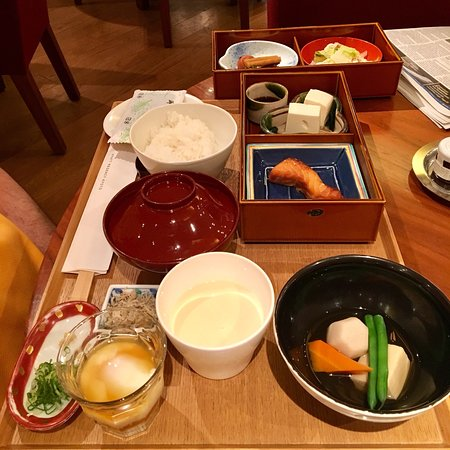 The full Japanese Breakfast at the HR Kyoto