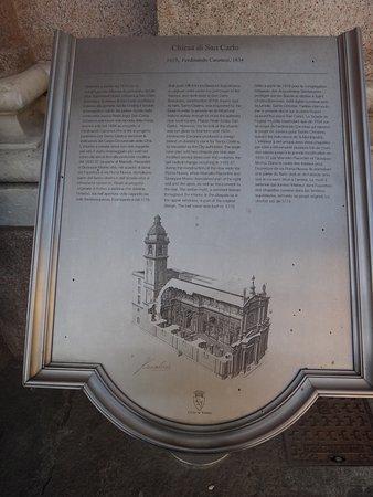Chiese di San Carlo e Santa Cristina : Placa informativa.