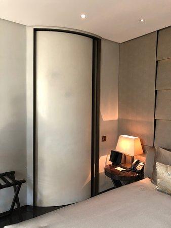 weird privacy vestibule with door closed