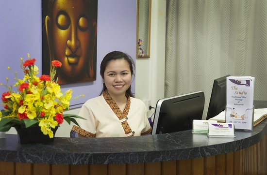 The Studio Traditional Thai Massage: A welcoming smile from receptionist Lyn.