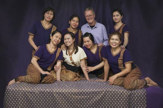 The Studio Traditional Thai Massage: John and Thida (centre rear) together with our incredible team at The Studio Rotorua