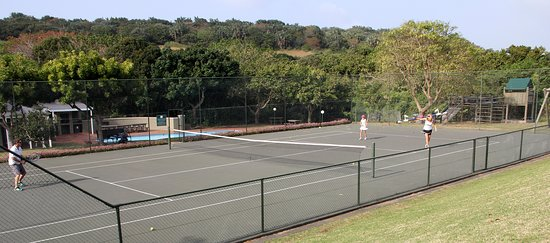 The Eighteenth: Tennis courts at the lodge