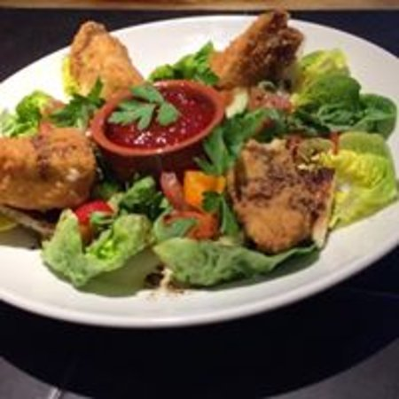Fettercairn, UK: Special Breaded Brie and Chilli Jame Salad