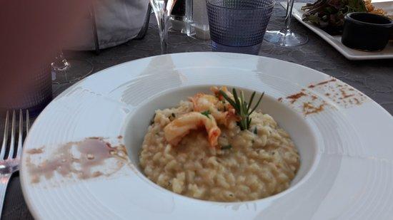 L'Assiette Provencale: Risotto aux crevettes