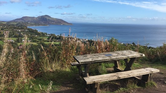 """Whiting Bay, UK: The best bench stop overlooking """"Holy Island"""""""