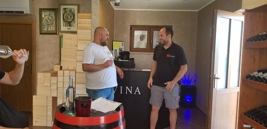 EatIstria Cooking Classes and Wine Tours: Goran and Marko Fakin as we sample their great wines.