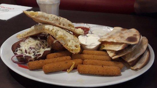 Rhuddlan, UK: Meat-free platter for sharing