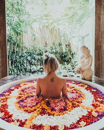 A trip to Bali wouldn't be complete without experiencing a Spa and a flower celebration bath!