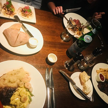 The Keg Steakhouse + Bar Mansion: We all got something different and we all loved it