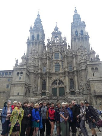 "7-Day Camino Frances Pilgrimage Tour from Sarria to Santiago: Our Caminoways group at the ""finish line"" in Santiago"
