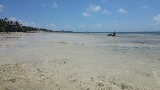 Lovely waters of Nyali Beach at low tide