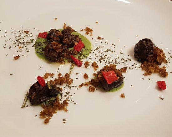 Osteria della Rosa Rossa: Antipasto a base di lumache, delizioso