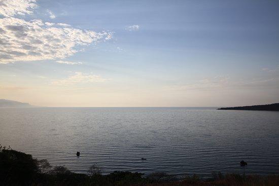 Mpulungu, Zambia: Zachód słońca nad jeziorem Tanganika