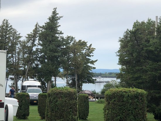Champlain Adult Campground: View from our campsite