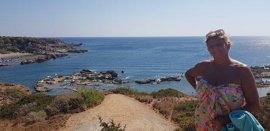 Nikolas Beach: View from walk down to the beach