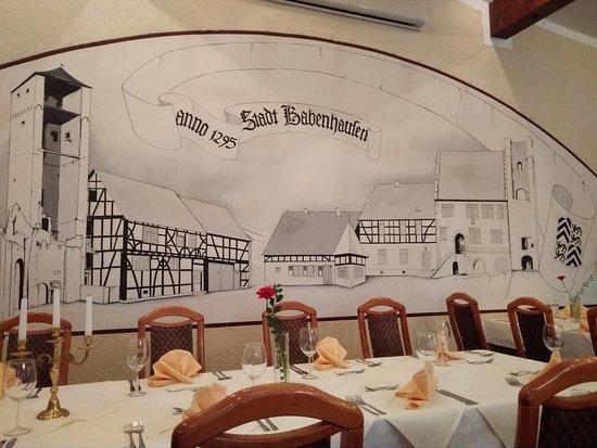 Babenhausen, Germany: Interior del restaurante en el hotel