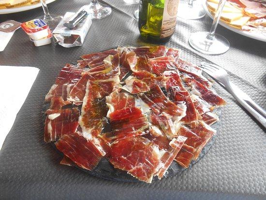 Atajate, Espanha: assiette de jambon iberico