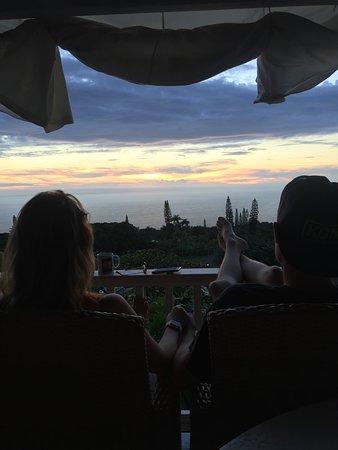 Holualoa, HI: Porch at Sunset