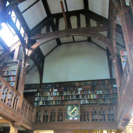 Hawarden, UK: library with sun flooding in