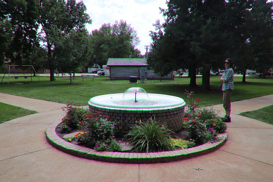 Gothenburg, NE: The lovely fountain