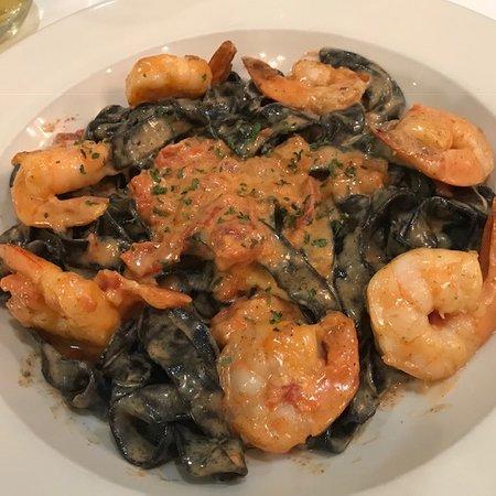 Pastorante: Black Squid Ink Pasta and Shrimp