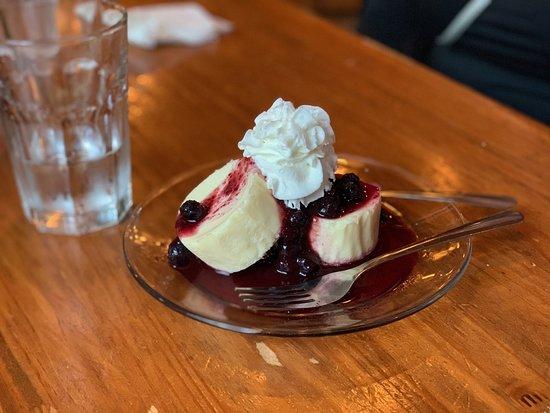 Gwinn, MI: Non-homemade Blueberry cheesecake ($6)