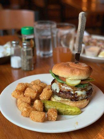 Gwinn, MI: Burger with tots ($11)