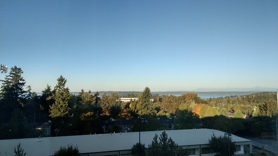 Des Moines, WA: View of Puget sound from the room.